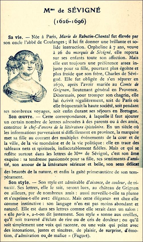 Mme de Sévigné