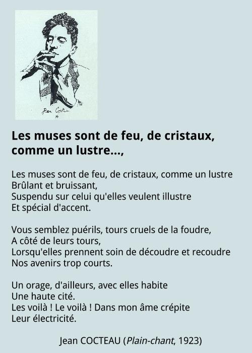 Jean Cocteau - Les muses sont de feu