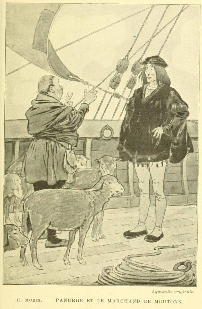 Panurge et le marchand de moutons