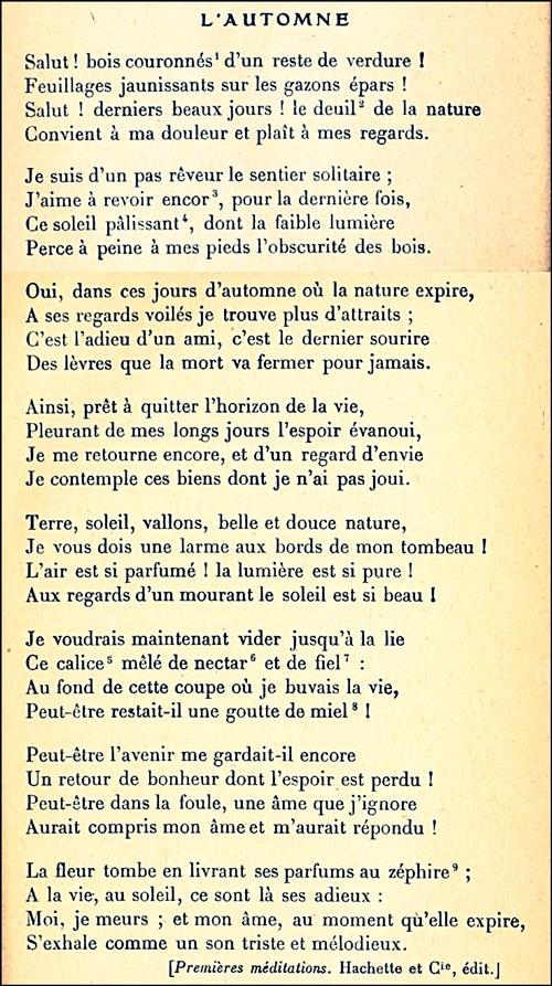 Lamartine_L'automne