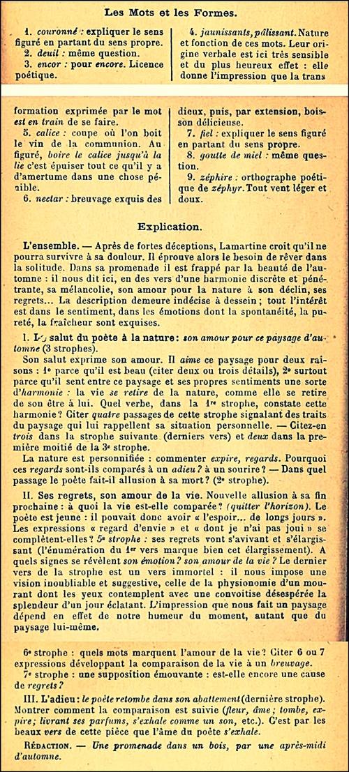 Lamartine_L'automne_Commentaire