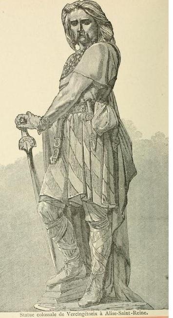 Vercingétorix (né aux environs de -80 sur le territoire des Arvernes, dans l'actuelle Auvergne, mort le 26 septembre -46 à Rome) est le fils du chef gaulois de la tribu des Arvernes, Celtillos. Il fédère la plupart des peuples gaulois et leurs chefs pour tenter de repousser le général romain Jules César, allié des quelques autres tribus gauloises, à la fin de la guerre des Gaules (-58 à -51). Vaincu à Alésia en -52, il est emprisonné, puis, six ans plus tard, exécuté à Rome à la suite du triomphe de César. L'homme fut l'un des premiers chefs ayant réussi à fédérer une partie importante des peuples gaulois, en montrant de réels talents militaires face à l'un des plus grands stratèges de son temps, Jules César. Amplement oublié jusqu'à la moitié du XIXe siècle, sa figure de représentant de la civilisation gauloise est largement mise en avant sous Napoléon III ; puis, dans le cadre de l'affrontement franco-allemand, il incarne une figure mythique et nationale de tout premier ordre pour la France, dans une partie importante de l'historiographie du temps. Il devient, entre 1870 et 1950, dans l'enseignement de l'histoire à des générations d'écoliers, le premier chef des Français.