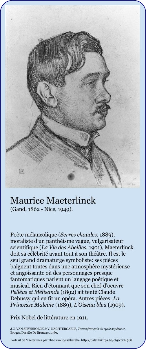 Maurice Maeterlinck fiche