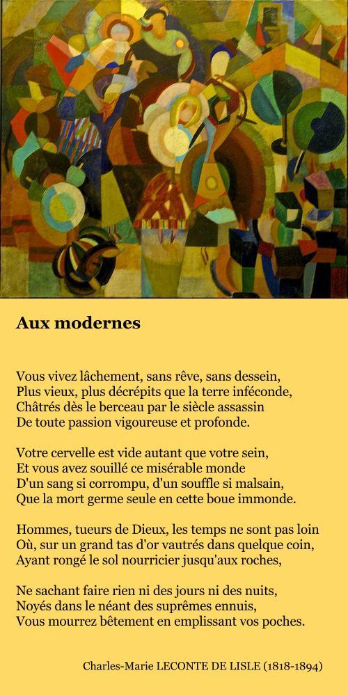 Leconte de Lisle, Aux modernes