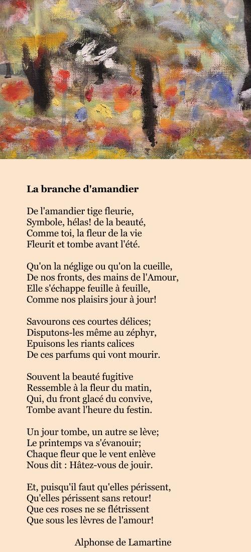 Lamartine - La branche d'amandier