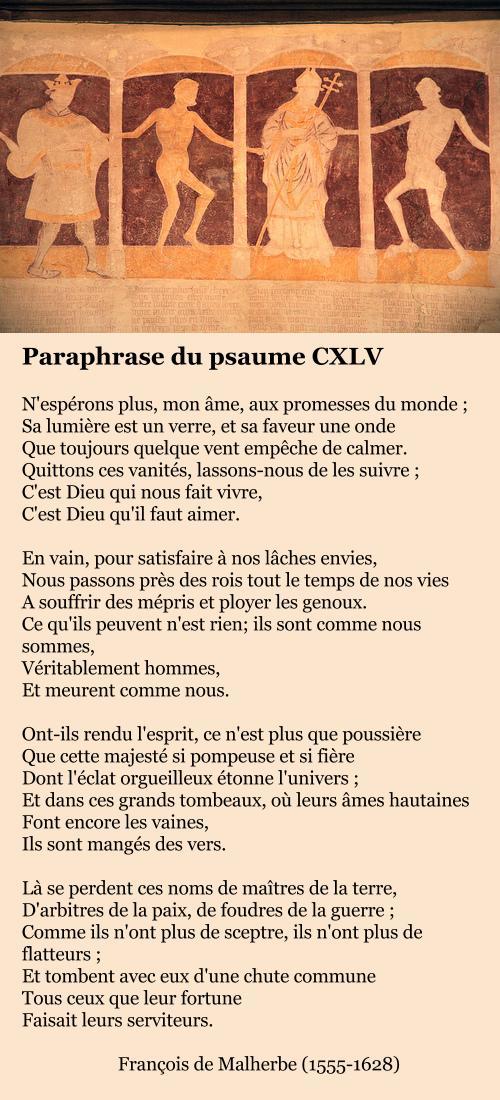 Paraphrase du psaume CXLV (extrait), François de Malherbe