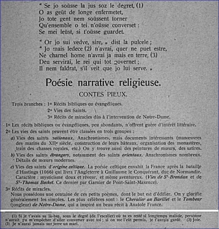 Poésie narrative religieuse - 2