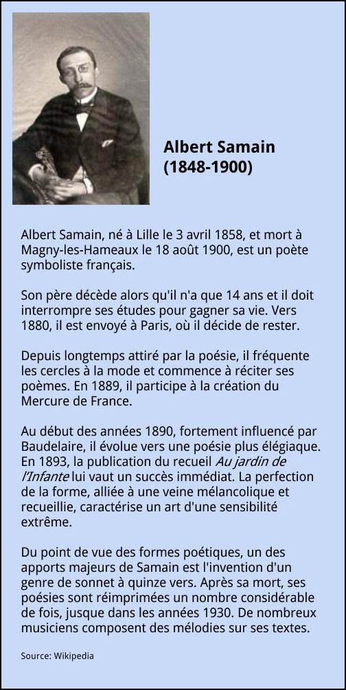Albert samain la fran aise for Albert samain la cuisine
