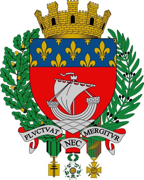Fluctuat nec mergitur - Grandes_armes_de_la_ville_de_Paris