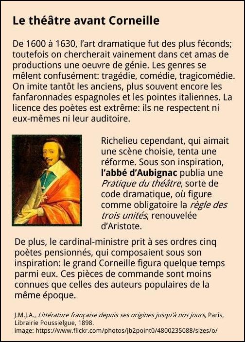 Le théâtre avant Corneille