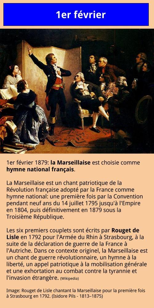 1er février - La Marseillaise