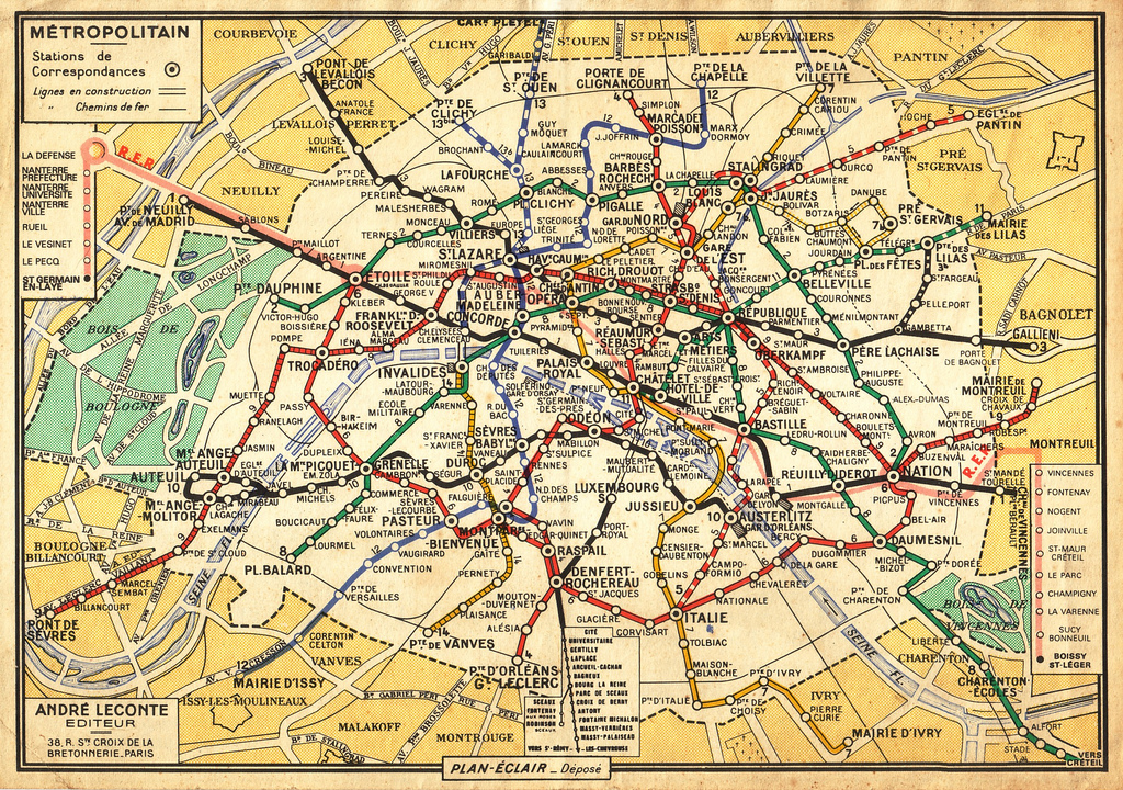 Métro de Paris 1971
