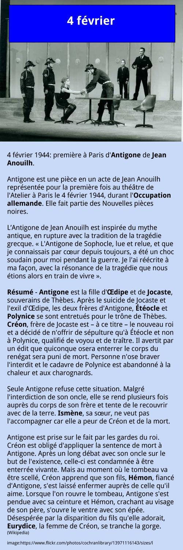 4 février – Antigone – Anouilh