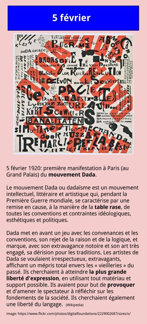 5 février – Dada