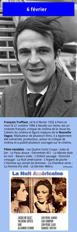 6 février – François Truffaut