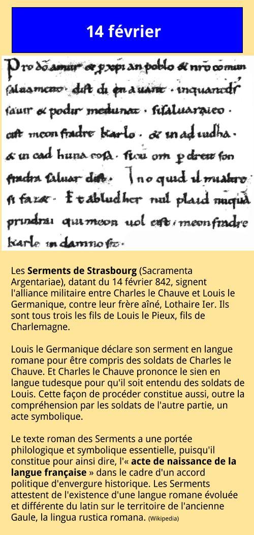 02_14 Les Serments de Strasbourg