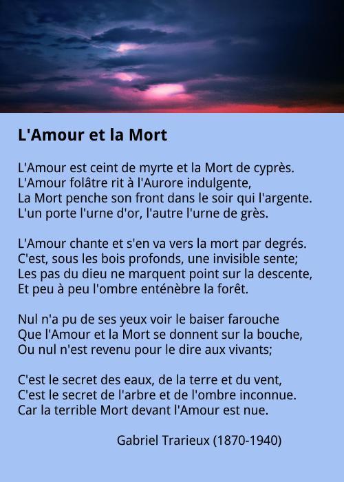 Gabriel Trarieux - L'Amour et la Mort