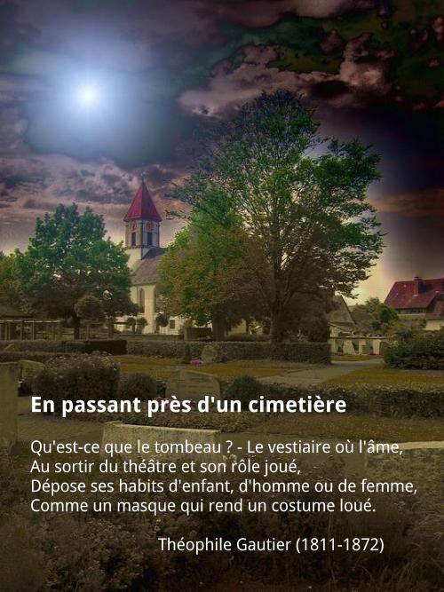 Théophile Gautier - En passant près d'un cimetière
