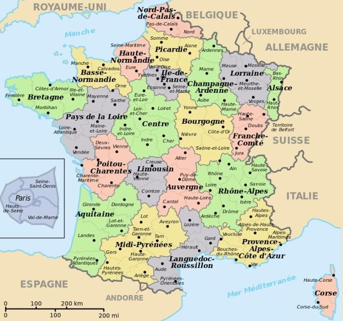 France - Régions - Départements