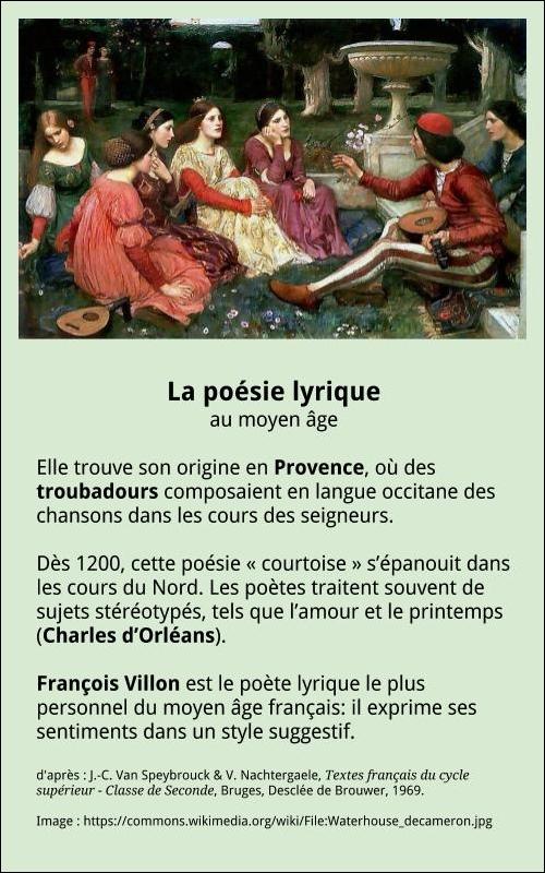 La Poésie Lyrique à La Française