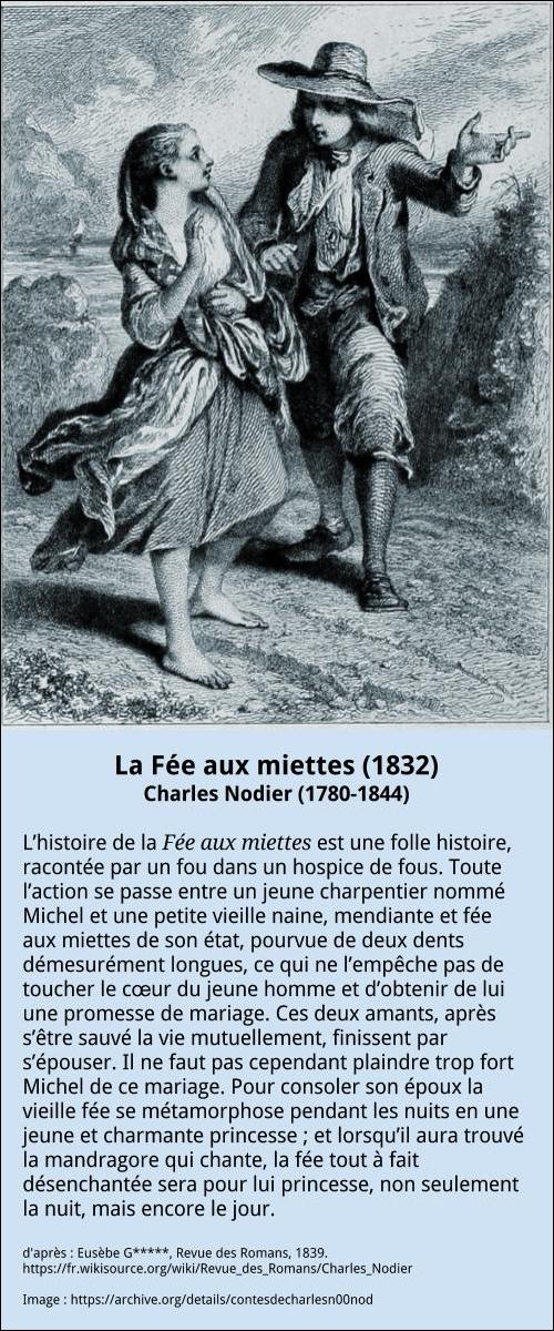 Charles Nodier - La Fée aux miettes biblio