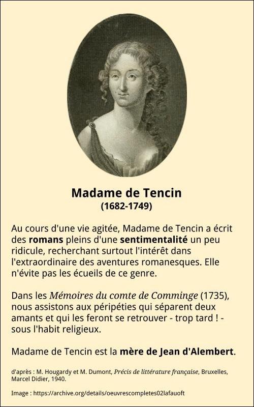Madame de Tencin bio b